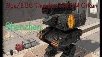 Boa ECC Thunder R40M Orkan. Shenzhen. War robots.