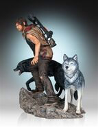 Daryl and the Wolves (Regular Release) Statue 2