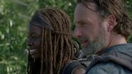 Michonne and Rick 7x12 Say Yes