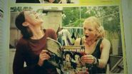 Lauren and Emily very cool expresion reading TWD book