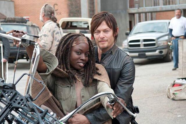 File:Michonne and Daryl on a motorcycle.JPG