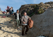 FTWD 203 Group Fleeing Beach