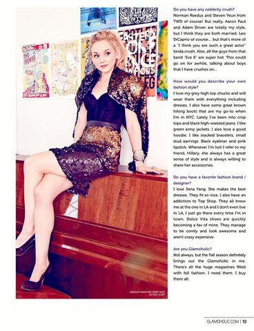 File:Emily Kinney on Glamoholic piano sitting.JPG