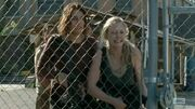 Maggie and Beth horrified at The Gov's getting ready to kill Hershel