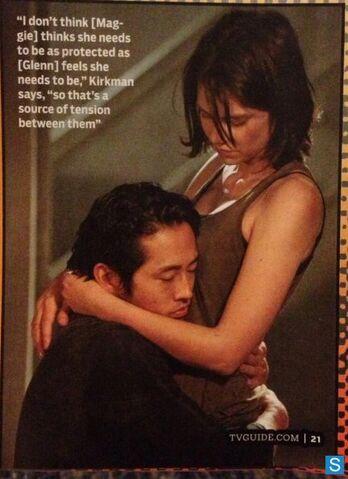 File:The Walking Dead - Season 4 - Glenn and Maggie Image 595 slogo.jpg