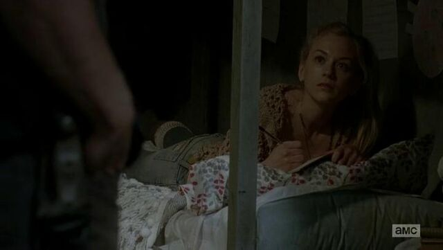 File:Beth on bed looking at Daryl.JPG