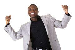 File:Cheering-black-man-handsome-friendly-46297362.jpg
