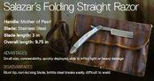 Salazar's Folding Straight Razor
