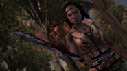 TWDM Michonne Wields Machete
