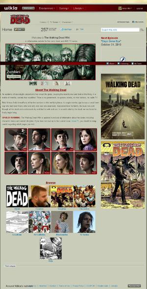 Walking Dead Wiki wikia skin