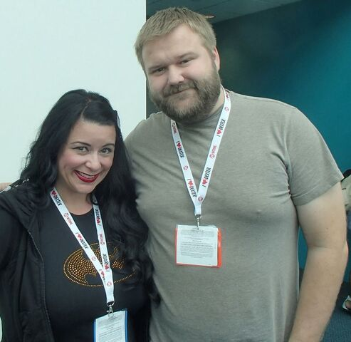 File:Robert Kirkman and Carley's Voice Actress.JPG