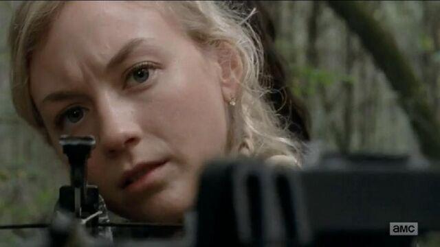File:Beth with a crossbow oh so badassly cute.JPG