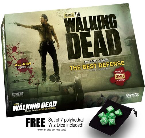 File:The Walking Dead Board Game The Best Defense w free set of 7 Wiz Dice.jpg