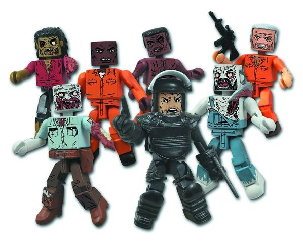 File:The Walking Dead Minimates Series 3 - Dreadlock Zombie, Guard Zombie, Tyreese, Dexter, Riot Gear Rick, Farmer Zombie & Hershel.jpg