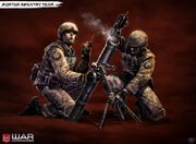 Mortar infantry team by pixel saurus-d5yrnx0
