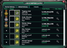Leaderboard - friends