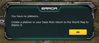 Error - You have no platoon.