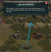 Platoon Move Error