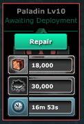 Paladin-Level 10-RepairTime(WF-L10)