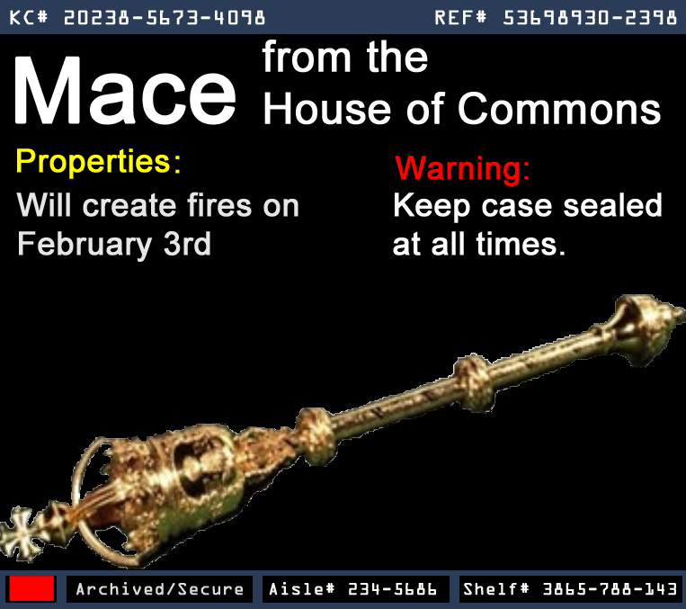 Mace From The House Of Commons Warehouse 13 Artifact