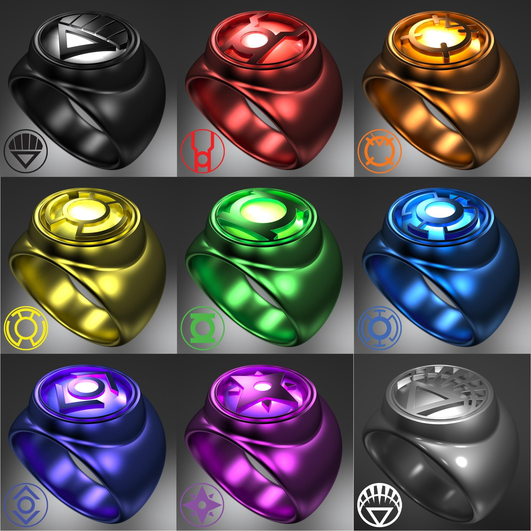Lantern Corps Rings | Warehouse 13 Artifact Database Wiki ...