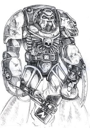 File:Warhammer 40k Terminator by old stone road.jpg