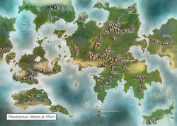 Pandorax World Map