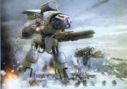 Imperial Titans and Space Wolves on Betalis III