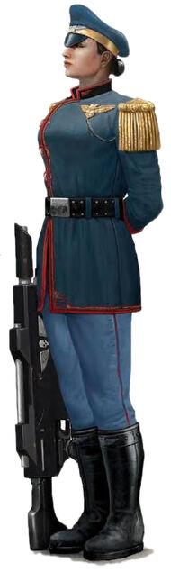 Mordian Iron Guard female trooper 2