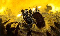 Chaos Space Marine Biker combat