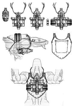 Body-mounted flechette gun