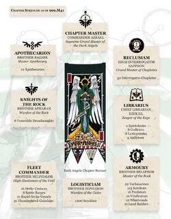 Dark Angels' Chpater Organisation