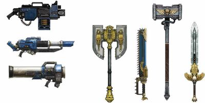 Space Marine weapons