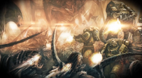 Imperial Fists Battling Tyranids2