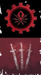 Atrax Icon Frayed Banner