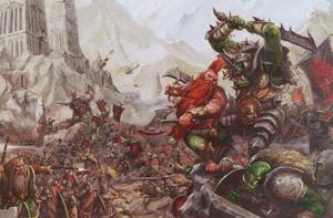 Warhammer Greenskins vs Dwarfs