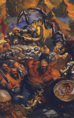 Warhammer Ogre vs Greenskin