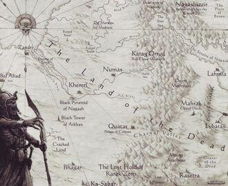 Warhammer Map Nehekhara