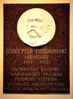 Tablica Józef Pius Dziekoński katedra św. Floriana.JPG
