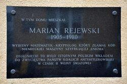 Tablica Marian Rejewski Gdańska 2.JPG