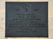 Tablica uchwalenie Konstytucji 3 Maja Zamek Królewski