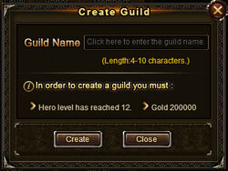 Create guild