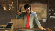 Jordi with a pistol