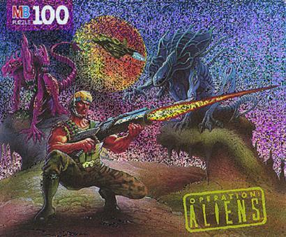 Drake vs. 3 Headed Alien Gorilla Alien jigsaw
