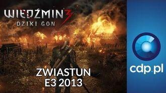 Wiedźmin 3 - rozgrywka - E3 2013 - zwiastun PL trailer PL - zobacz więcej na cdp.pl