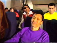 JeffSleepingonQantasAirplane