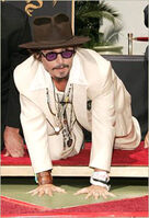Johnny Depp Attack Stance