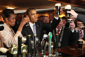 Obama guinness irish