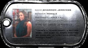 Shannon Jennnings ID
