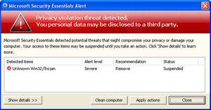 Privacycorrector alert